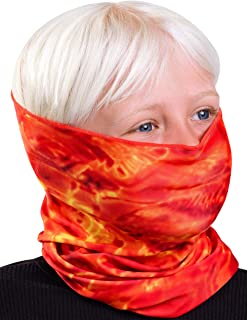 Aqua Design Children�s Face Mask Neck Gaiter: Kids Reusable Bandana Tube: UPF 50+ UV Sun Dust Wind Protection