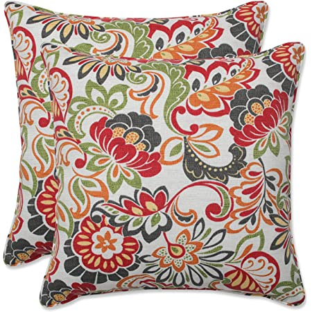 Pillow Perfect Outdoor Indoor Zoe Citrus Throw Pillows 18 5 X 18 5 Green 2 Pack Home Kitchen