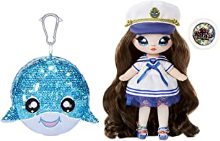 Na Na Na Surprise 2-in-1 Fashion pop en sparkelende pom portemonnee, SAILOR BLU. Zeiler pop met luxe outfit & fashion acce...
