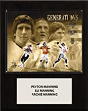 NFL Green Bay Packers Peyton/Eli and Archie Manning Player Plaque, 12 x 15-Inch