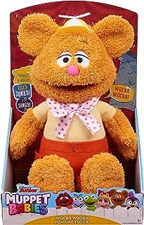 Disney Junior Muppet Babies Wocka Wocka Feature Fozzie, Interactive Plush (Stands 12