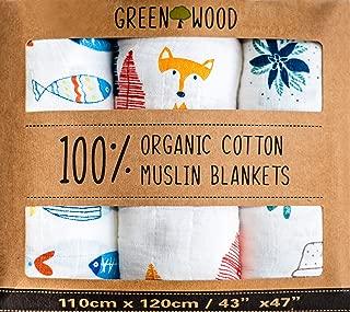 Organic Swaddle Blanket - 100% Organic Cotton - 3 Pack 43