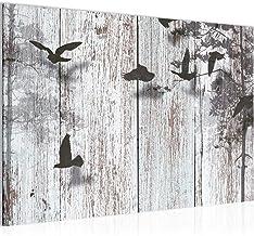 Afbeelding abstract vogel wandafbeelding 60 x 40 cm vlies - canvas afbeelding XXL formaat wandafbeeldingen woning decorati...