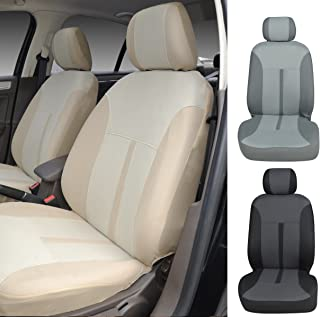 N16103 Tan-Fabric 2 Front Car Seat Covers for MKC MKZ MKX Navigator 2020 2019 2018-2007 (Tan)