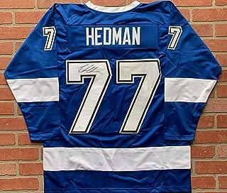 Victor Hedman autographed signed jersey NHL Tampa Bay Lightning JSA w/COA