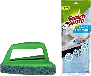 Scotch-Brite Bathroom Scrubber Brush + Microfibre Bathroom Wipes