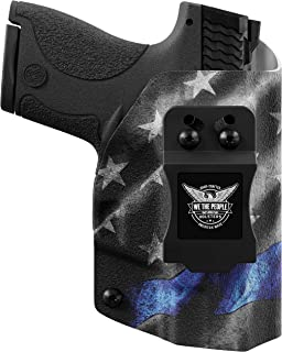 We The People - Thin Blue Line - Inside Waistband Concealed Carry - IWB Kydex Holster - Adjustable Ride/Cant/Retention