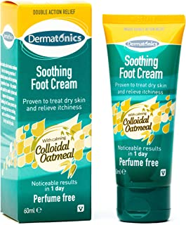 Dermatonics Natural Foot Soothing Cream w/ Manuka Honey and Colloidal Oatmeal – Ideal for treating Eczema and Dry, Itchy S...
