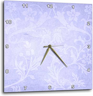 10 by 10-Inch 3dRose dpp/_31485/_1 Blue Florals-Wall Clock