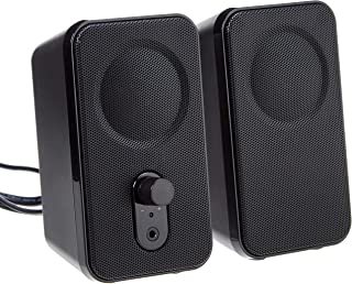 Amazon Basics Computer Speakers for Desktop or Laptop PC | AC-Powered (US Version)