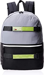 Tommy Hilfiger Backpack for Men-Grey/Reflective Green