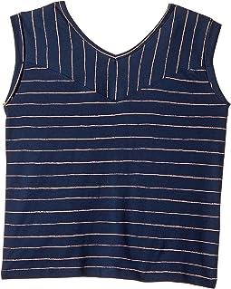 Dress Blue Pencil Stripe