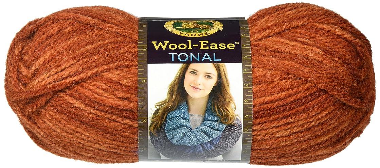 Lion Brand Yarn 635-135 Wool-Ease Tonal Yarn, Burnt Orange