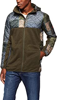 Burton Snowboards Men's Pierce Fleece Shirt, Patchwork Forest Night Heather, Medium
