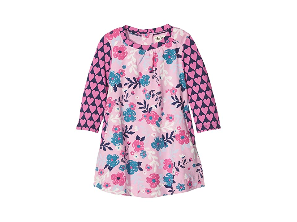 Hatley Kids Wintery Blooms Mini Swing Dress (Infant) (Pink) Girl