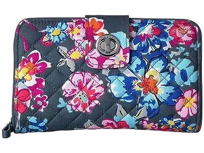 Vera Bradley Iconic RFID Turnlock Wallet (Pretty Posies) Wallet Handbags