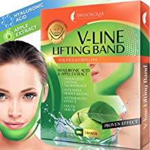 Double Chin Reducer V Shaped Slimming Face Mask Chin Up Patch Face Lift Tape V Line Lifting Mask V Up Contour Tightening Firming Moisturizing Chin Neck V Shape Mask 5 PCS