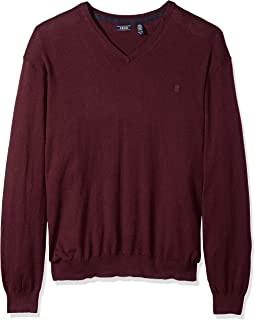 IZOD Men's Big and Tall Premium Essentials Solid V-Neck 12 Gauge Sweater