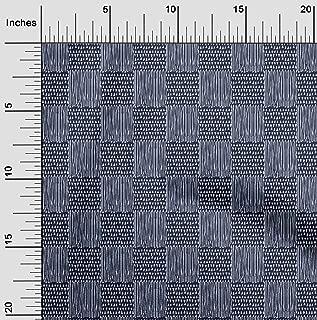oneOone Cotton Poplin Fabric Geometric Block Printed Fabric 1 Meter 56 Inch Wide