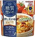 カゴメ 糖質想いの 押し麦がゆ ごろっとお豆と完熟トマト 250g