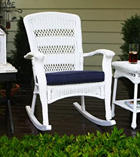tortuga outdoor white plantation rocking chair