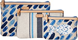 Blue Water Small Pouch Set