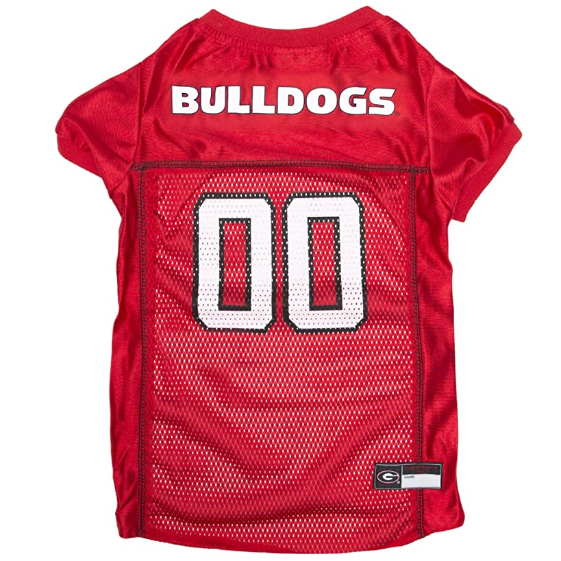 Pets First NCAA PET Apparels - Basketball Jerseys, Football Jerseys for Dogs & Cats Available in 50+ Collegiate Teams & 7 Sizes