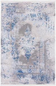 CarpetFine: Tappeto Vintage Florena 160x230 cm Blu - Vintage