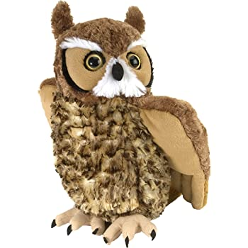 "Wild Republic Great Horned Owl Plush, Stuffed Animal, Plush Toy, Kids Gifts, Cuddlekins 12"""
