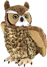 Wild Republic Great Horned Owl Plush, Stuffed Animal, Plush Toy, Kids Gifts, Cuddlekins 12