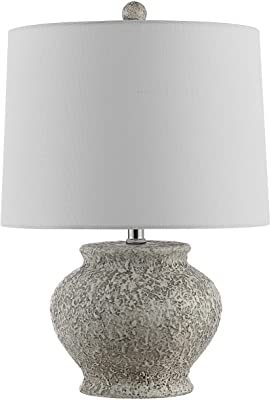 Safavieh Collection Imran 21-inch Light Grey Table Lamp (LED Bulb Included) TBL4353A