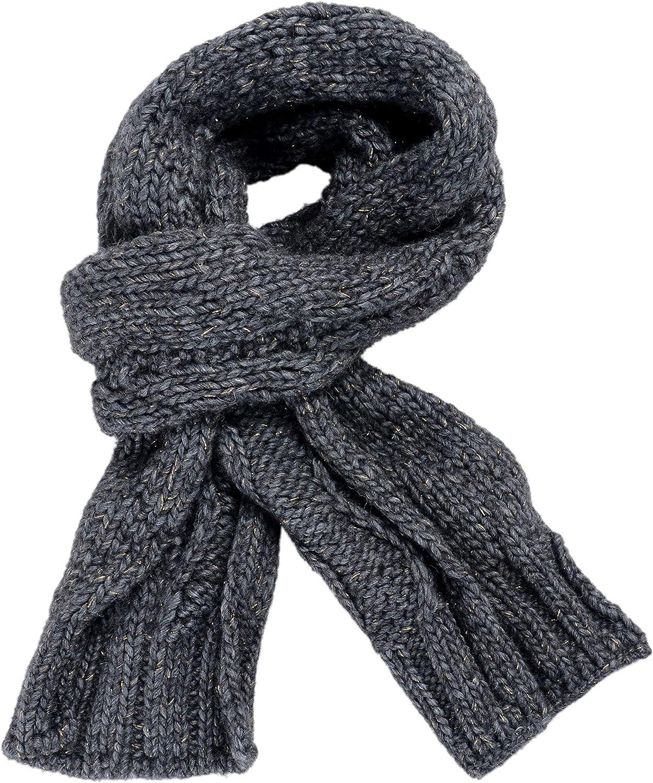 Just Cavalli Wool Alpaca Gray Heavy Knitted Scarf