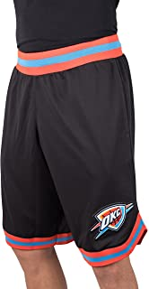 UNK NBA Mens NBA Men's Woven Team Logo Poly Mesh Basketball Shorts GSM3547F-BC-BLK-L-P