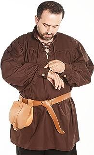 Hermes Medieval Viking LARP Pirate Cotton Man Shirt - Made in Turkey