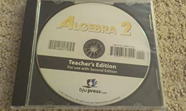 BJU Press Bob Jones Algebra 2 Second 2nd Edition Distance Learning Homeschool Teacher Edition CD