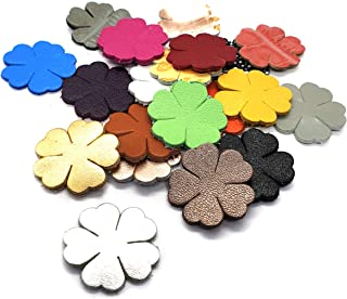 Jewelry Supplies Handbag Supplies Set of 12 Distressed Leather Flowers Genuine leather Flower Shapes