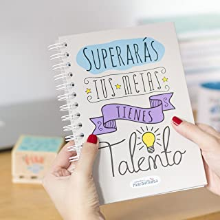 La Mente es Maravillosa - Cuaderno A5 (Superarás tus metas, tienes talento) Regalo para amiga con dibujos (Diseño Talento)