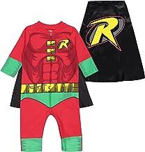 Warner Bros. Justice League Boys' Costume Coverall Superman Batman Robin Flash