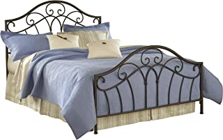 Hillsdale Furniture Josephine Bed Set with Rails, Queen, Metallic Brown