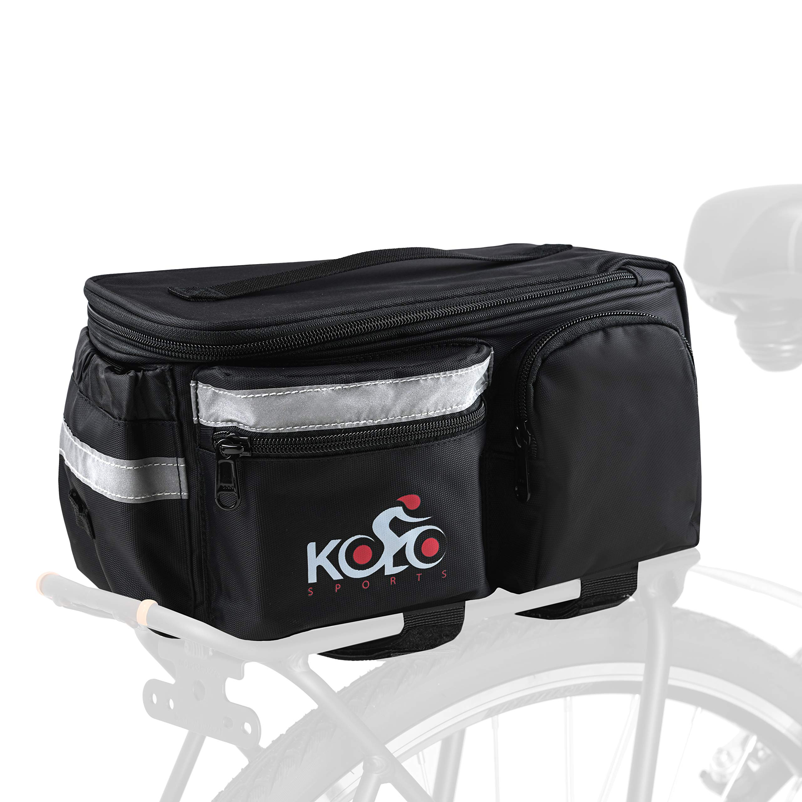 ETC Rack Top Bag for Rear Cycling Pannier Rack Black Great for Bike Touring