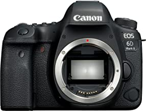 Canon EOS 6D Mark II Body, 26.2 MP, DSLR Camera, Black