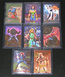 1993 Marvel Masterpieces Series II Spectra-Etch Insert Set of 8 Cards NM/M Joe Jusko, X-Men