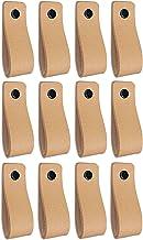 Brute Strength - Leren Handgrepen - Naturel - 12 stuks - 16,5 x 2,5 cm - incl. 3 kleuren schroeven per leren handvat voor ...