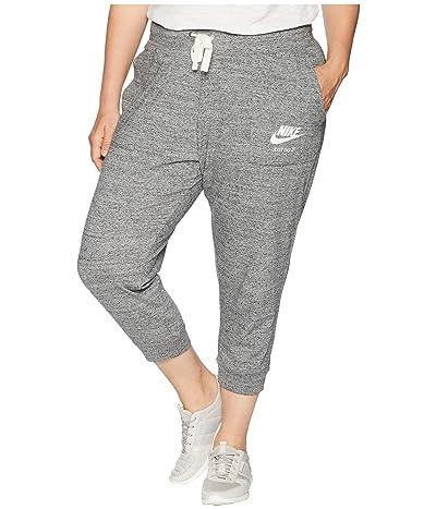 Nike Plus Size Gym Vintage Extended Capris (Carbon Heather/Sail) Women