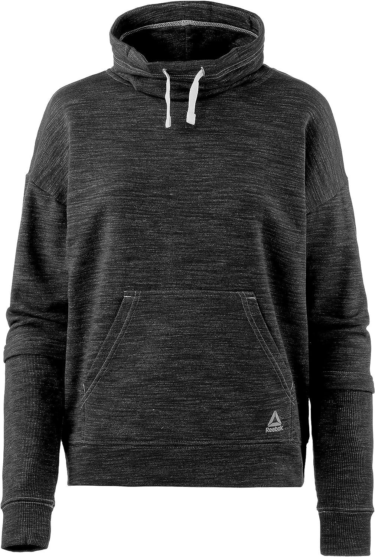 Reebok Womens Te Marble Cowl Neck Sweatshirt