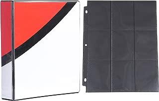 Totem World 2-inch 3-Ring Binder with 25 Black 9-Pocket Side-Loading Pages for Pokemon Cards