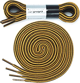 lorpops Heavy Duty and Durable Shoelaces for Boots,(2 Pairs) Work Boots & Hiking Shoes