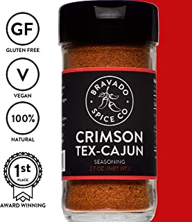 Bravado Spice Crimson Tex-Cajun Seasoning | Gluten Free | Vegan | All Natural