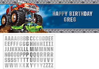 "Creative Converting Monster Truck Large Banner, 1 ct, Multicolor, 60"" x 20"""