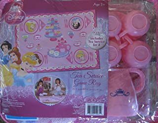 Disney Princess Tea Party Game Rug - Includes 4 cups and Teapot